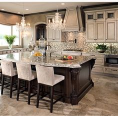 I love the color of the kitchen...I think it's a light beige color.