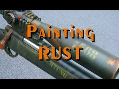 How to paint rust effects on your models and scenery - YouTube