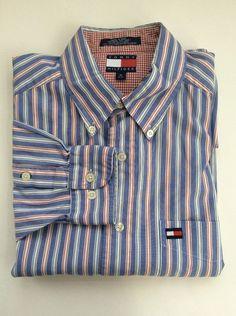 Banana Republic Mens Shirt Size Small Button Down Blue White ...