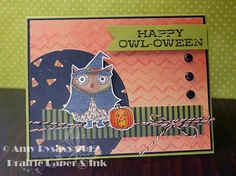 Card #11 from my 2012 Halloween Card Series by AmyR of Prairie Paper & Ink