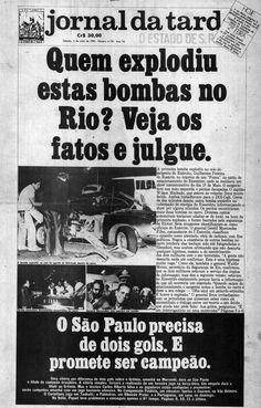 Atentado do Riocentro - O Estado de São Paulo - 02/05/1981 (capa)