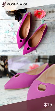 JG Plum Flats These stunning shoes have never been worn they are excellent condition. This shoe will go very well with almost any outfit. Shoes Flats & Loafers