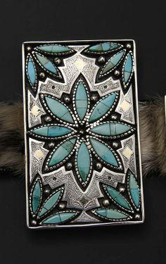 Concho by Native artist Eric Othole (Cochiti-Zuni). Beaded Jewelry, Silver Jewelry, Handmade Jewelry, Cowgirl Style, Western Style, Concho Belt, Mexican Chicken, Chicken Casserole, Native Art