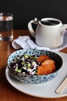 Sweet Potato Salad with Tahini Yoghurt Dressing