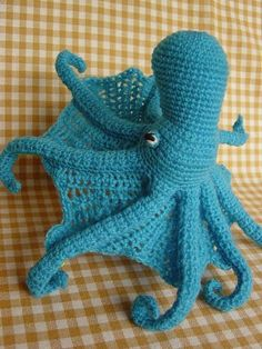 Crochet octopus for Wiley.  Any bright color