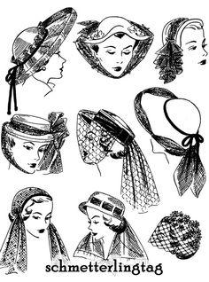 236 meilleures images du tableau 1940-1959 Hats & Hair