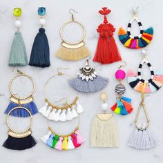 Easily accessorize in fabulous style with these tassel earrings. Wear them casually with your tees and sneakers or dress them up for a night out... they are absolutely perfect for every occasion.