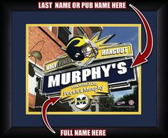 Use this Exclusive coupon code: PINFIVE to receive an additional 5% off the Michigan Wolverines Personalized Pub Print at SportsFansPlus.com