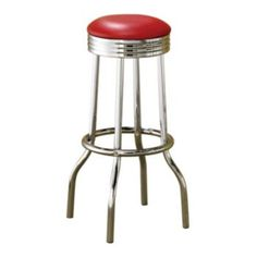 Coaster Retro Swivel Bar Stool