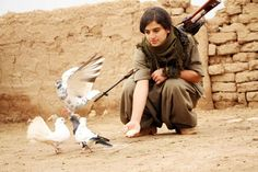 kurdish girl, she is kurdish fighter anti isis and turkish terrorists