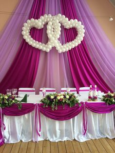 Wedding Decorations With Balloons Reception - pearl balloon decorations Decoration Evenementielle, Stage Decorations, Indian Wedding Decorations, Balloon Decorations, Wedding Centerpieces, Balloon Ideas, Wedding Chairs, Wedding Table, Diy Wedding