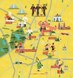 map of MexicoCity by Cruschiform for Esquire