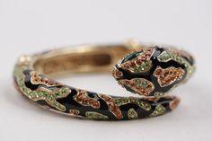 Bracciale serpente metallo oro italiano ROBERTO CAVALLI di ciocci