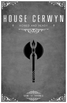 House Cerwyn help the cause Stark?  , Game of thrones