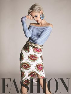 Coco Rocha Beauty Looks for FASHION Magazine April 2017 Issue Coco Rocha wears Altuzarra top, skirt, belt and earrings with Botkier ring for FASHION Magazine April 2017 Issue High Fashion Poses, Fashion Model Poses, Fashion Shoot, Editorial Fashion, Fashion Models, Trendy Fashion, Fashion 2017, Street Fashion, Fashion Trends