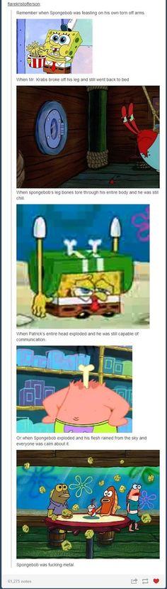 Spongebob is pretty metal