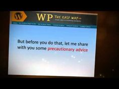 http://wptheeasyway.com/wordpress-how-to-backup.html  Trouble with wordpress? Watch this video. It can surely help you.