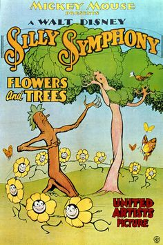 Disney History   The Walt Disney Company Walt Disney first short Flowers and Trees, first full-color cartoon and first Academy Award winner, is released.