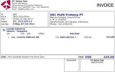 Contoh Invoice In 20110914 Skenario 2