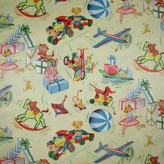 Vintage baby wrapping paper / gift wrap.