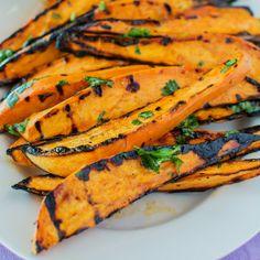 Cilantro-Lime Grilled Sweet Potato Wedges