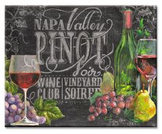 Glass CB 12 x 15 Chalkboard Wine