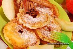 Postre típico de Austria para Navidad - Manzana Frita, gebackene Apfelspalten
