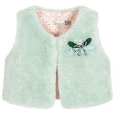 546505735698 Catimini Baby Girl Faux Sheepskin Sleeveless Cardigan (6m - 3T) Sleeveless  Cardigan
