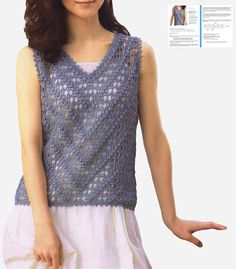 Sexy crochet tunic PATTERN V-neck crochet tunic PDF casual