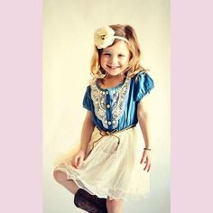 cc20ddd3fd69c Denim Girl Dress with Lace. Cheap Baby Clothes OnlineTrendy Baby  ClothesToddler CowgirlBoutique ...
