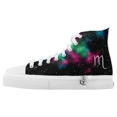 Shop AstroStars Series - Scorpio Zodiac Shoe Design created by GoldenWings. High Top Chucks, High Top Sneakers, Glow Shoes, Zodiac Sign Fashion, Scorpio Zodiac, Shoe Art, Love Design, Custom Sneakers, Designer Shoes