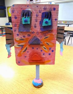 Art in the Big Green Room: 2nd grade Sculpture Faces....inspired by GA artist, Jim Shores