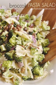 Broccoli Pasta Salad @yourhomebasedmom.com #salads, #broccoli