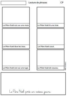 Lecture de phrases autour de Noël - CP - Zaubette Grade 2, Comprehension, Montessori, Classroom Ideas, Reading Games, Readers Workshop, Christmas Diy, Noel, French Lessons
