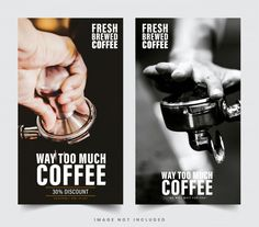 Design Restaurant Banner For Social Networks, Template For Advertising Advertisement Images, Advertising, Facebook Cover Template, Discount Coffee, Too Much Coffee, Web Banner Design, Restaurant Design, Social Networks, Vector Design
