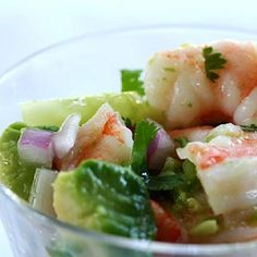 HCG Diet Recipe for SHRIMP CEVICHE --  1 to 2 lbs. shrimp, fresh or frozen, raw or cooked, peeled and deveined, tail-on or off.   2 large lemons, freshly squeezed, about 3/4 cup to 1 cup.   2-3 large limes, freshly squeezed, about 3/4 cup to 1 cup.   1 tablespoon fresh garlic, minced 1 cubanel or other mild to medium pepper, ribs and seeds removed, finely chopped.   1 red onion, finely chopped (about 1 cup).    1-3 tablespoons Tabasco or hot sauce (more or less to taste).   4 large tomatoes…