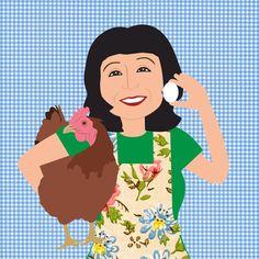 Odette and her chicken
