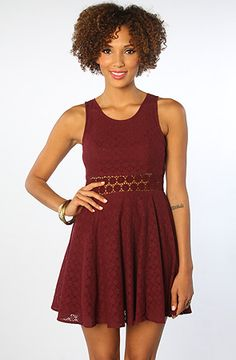 Free People The Daisy Waist Dress in Merlot : Karmaloop.com