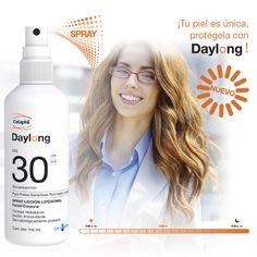 DAYLONG™ SPF 30 Spray Loción Liposomal además de protegerte del sol y del daño celular te da 24 horas de hidratación para tu piel. Round Sunglasses, Sun, Sensitive Skin, Moisturizer, Round Frame Sunglasses