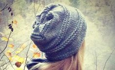This quick and easy knitted baggy fall hat is the perfect knitting project for the novice knitter. You could probably knit this simple hat in an evening.