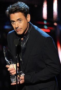 Robert Downey Jr. during his acceptance speech for winning three People's Choice Awards, January 8, 2014.