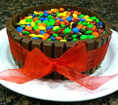 "Boyfriend's Birthday Cake w/ REESE'S inside :)(See my ""Food"" board for details)"