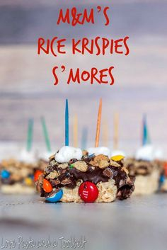 M&M's Rice Krispies S'mores - Love, Pasta and a Tool Belt #KreateMyHappy #ad   desserts   snacks   s'mores  