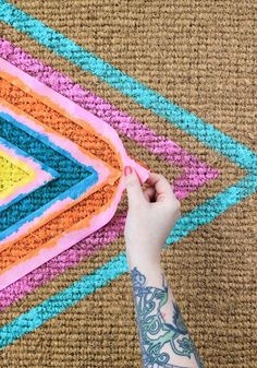 How to: Colorful Geometric Welcome Mat...