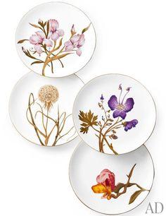 Royal Copenhagen Flor bone-china plates