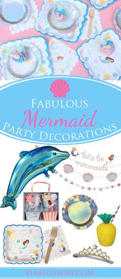 You don't want to miss our Fabulous Mermaid Party Ideas and Party Supplies for a Magical Under the Sea Party or Pool Party! We have every Mermaid Party decoration you can imagine!