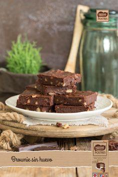 Brownie de chocolate sin huevo
