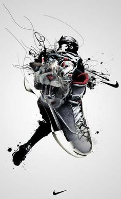 This is the type of art I like. A lot of shoe ads look like posters. They don't really need to say anything. They just show off the shoe. Nike-Anuncio9