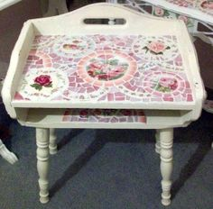 Vintage Childs Desk! Sooo Cute Shabby China Mosaic by hillspeak, via Flickr
