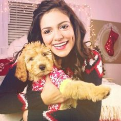Photo of Bethany Mota & her Dog